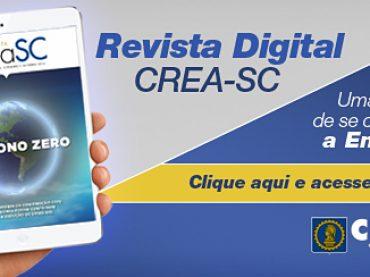 Revista digital do CREA-SC completa dois anos
