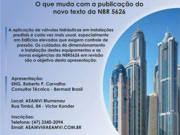 AEAMVI realiza workshop sobre controle de pressão em edifícios elevados