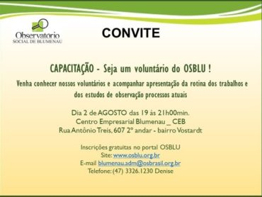 Observatório Social Promove evento de capacitação de novos voluntários