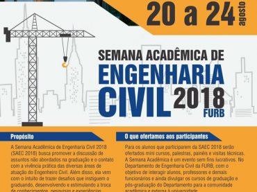Semana Acadêmica de Engenharia Civil da Furb 2018