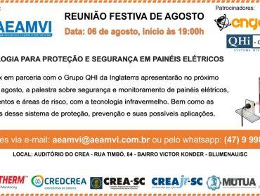 Dia 06 de agosto tem da Engretrix e QHi-Group sobre segurança e monitoramento de painéis elétricos