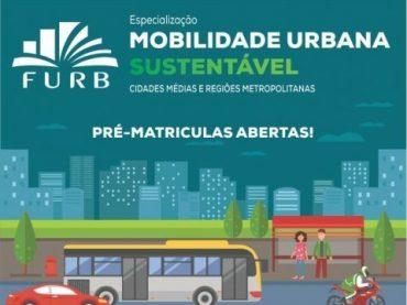 Furb está com pré-matrículas para curso de especialização em Mobilidade Urbana Sustentável