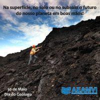 Parabéns aos Geólogos de SC pelo seu dia, celebrado neste sábado, dia 30 de maio!