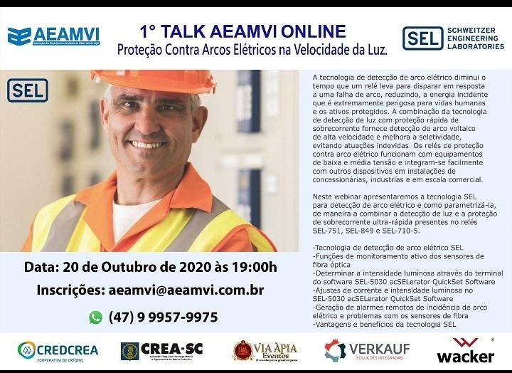 1º Talk AEAMVI - 20 de Outubro - 19h